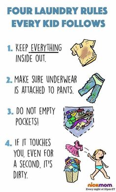 Please note: the depiction of a child using a clothes basket/hamper is for humorous purposes only and is not intended to be a literal example of Rule #4.