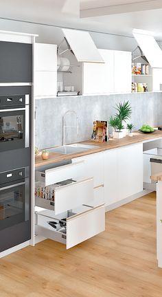 Encuentra en Madecentro todos los materiales que necesitas para construir tus ambientes soñados. www.madecentro.com Living Room Kitchen, Kitchen Decor, Ideas Geniales, Kitchen Drawers, Kitchens, House Ideas, Decor Ideas, Organization, Cabinet