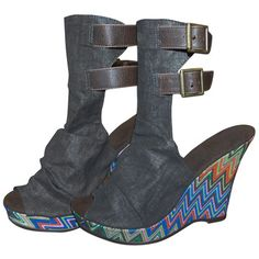 funky wedge boot/sandals. . .love em!
