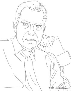 richard nixon coloring sheet