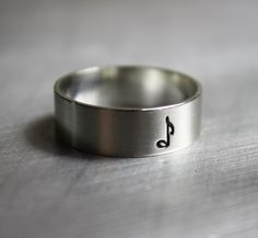 Music Note Ring, Sterling Silver, Note, Clef, Musical, Jewelry. $27.00, via Etsy.