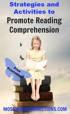 Strategies and Activities to Promote Reading Comprehension. We created a fun printable active reading game that checks for understanding. #mosswoodconnections #readingcomprehension #education #homeschooling