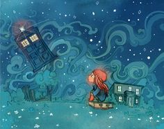 The Girl Who Waited print from theGorgonist on Etsy. Saved to Doctor Who? Dr Who, Tardis, Serie Doctor, Doctor Who Art, 11th Doctor, Bbc, Fan Art, Amy Pond, Rose Tyler