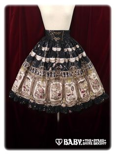 Alice and the Pirates'Night Ship Alice Skirt in Black