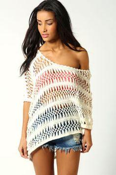 Ria One Shoulder Crochet Top