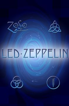 Led Zeppelin Poster by ramiusraven on DeviantArt Arte Led Zeppelin, Led Zeppelin Poster, Led Zeppelin Logo, Best Rock Bands, Rock And Roll Bands, Cool Bands, Robert Plant, Jimmy Page, Art Of Noise