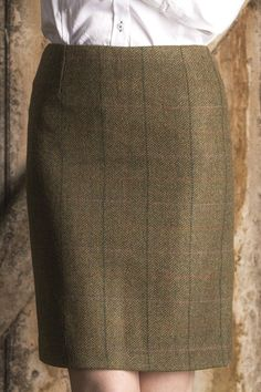 Fiddich Classic Tailored Tweed Skirt paired with Great Scot! Flawless Blouse