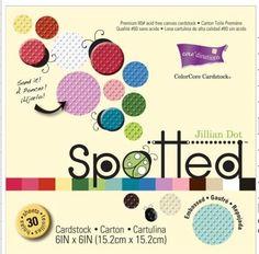 Coredinations 6 x 6 Paper Pad Jillian Dot Spotted 30 Sheets Cards Scrapbooking | eBay