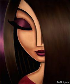 """Aisha"". Illustrative woman oil painting. Artist Jeff Lyons."