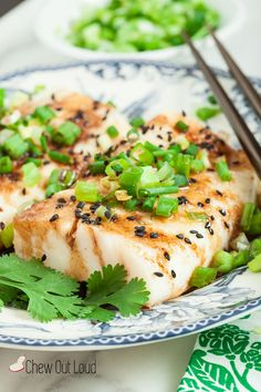 15-Minute Ginger Soy Asian Steamed Fish | Chew Out Loud