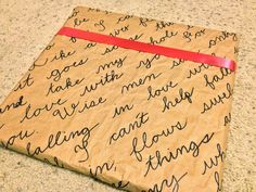 """Anniversary gift wrapping - a bonus to the """"Places We've Been"""" DIY tutorial!"""
