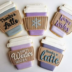 Say thanks a latte with this caffeinated shape, designed by Flour Box Bakery, made in the USA by Ann Clark, Ltd. Coffee Cookies, Iced Cookies, Royal Icing Cookies, Sugar Cookies, Cookies Et Biscuits, Starbucks Cookies, Fall Cookies, Cut Out Cookies, Cute Cookies