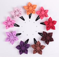 ★ Handmade flower fabric hair clip accessory 2.8 inches ★    Summer is comming!! And what is better than a colorful flower hair clip to feel beautiful