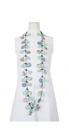 Annemieke Broenink Summer Blues Poppy Rubber Necklace