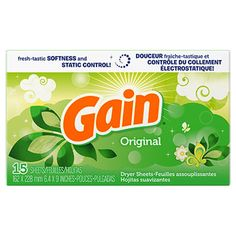 """Your clothes will """"gain"""" that super soft feel! Fabric softener dryer sheets in original fresh scent also make your clothes smell clean and fresh while helping to control static cling. A grea"""