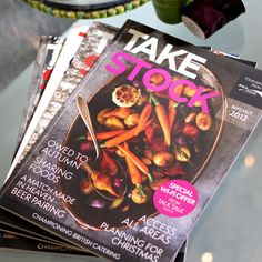 Take Stock magazine produced by the fabl. Distributed by wholesale members of Today's, to 25,000 independent, bars, restaurants, cafes and hotels across the UK.  The publication, which is bi-monthly, has been running since the beginning of 2012. Take Stock, Match Making, Catering, Restaurants, Hotels, Magazine, Running, Food, Cafes