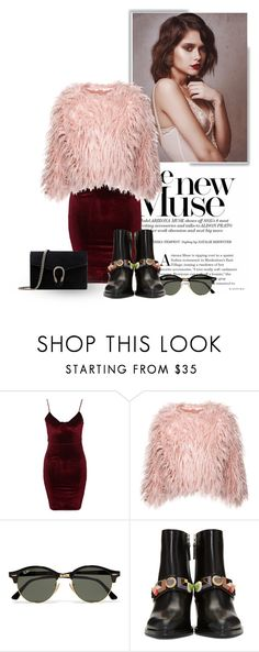 """The New Muse"" by johaae ❤ liked on Polyvore featuring Glamorous, Ray-Ban, Fendi and Gucci"