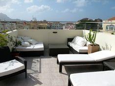 Idee Für Die Gestaltung Einer Dachterrasse Mit Sitzecke Und ... Terrassen Ideen Garten Dachterrassen