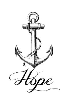 Hope Anchor Tattoo by ~krashark on deviantART; no word, just the anchor Future Tattoos, Love Tattoos, New Tattoos, Tatoos, Wing Tattoos, Feather Tattoos, Ancora Old School, Anchor Drawings, Anchor Pictures