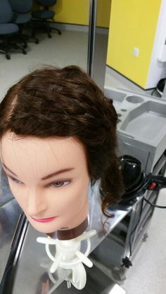 Basket weave braid incoparated into hair up by Danielle covington