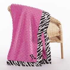 Check out this Hot Pink Zebra Trim Minky Baby Blanket for $20 or find your favorite gifts at Lolly Wolly Doodle. Click on the link to receive three dollars off your next order!