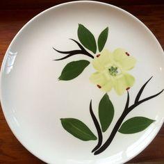 Dixie Dogwood Dinner Plate by Joni China by putnamandspeedwell