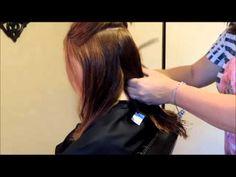 Easy to follow: One Length Hair Cut Tutorial - YouTube