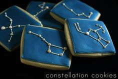 Scientifically accurate constellation cookies by Bridget Edwards from Bakeat350.