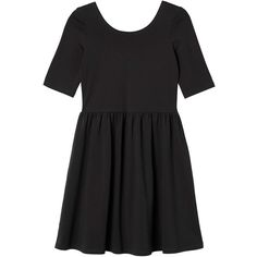 Monki Mary dress ($17) ❤ liked on Polyvore featuring dresses, vestidos, clothes - dresses, black, black magic, clear dress, black skater dress, monki, black dress and kohl dresses