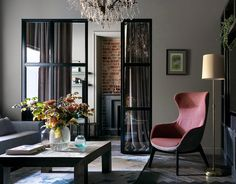 When the family acquired an apartment in the 1905 building, they approached designers of Aiya Design with a request to preserve the unique atmosphere of ✌Pufikhomes - source of home inspiration Leather Dining Room Chairs, Living Room Chairs, Living Room Decor, Living Rooms, Balcony Table And Chairs, Farmhouse Table Chairs, High Chairs, Gray Interior, Interior Design