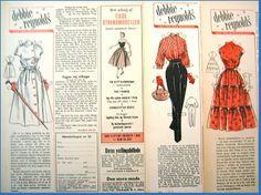 Ingrids Påklædningsdukker: Tempo 1955-56 Debbie Reynolds