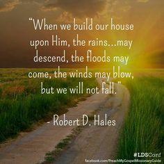 Build our house upon him...