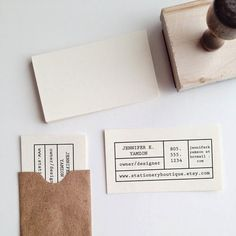 Make-Your-Own Business Card Stamp via The Stationery Boutique
