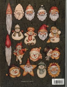 Santa loves snowmen - Tatinha - Picasa Web Albums Christmas Arts And Crafts, Christmas Projects, Christmas Crafts, Christmas Ideas, Pintura Country, Painted Ornaments, Xmas Ornaments, Ornament Crafts, Decoupage