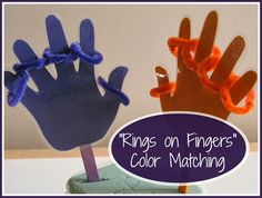 Toddler Color Matching - Rings on Fingers