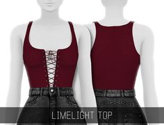 LIMELIGHT TOP• 15 swatches; • HQ mod compatible; • Custom Shadow Map; • All LOD's; • Use with @savage-sims high waisted clothing for a better look; [ DOWNLOAD ON MY BLOG ] If you use please tag...