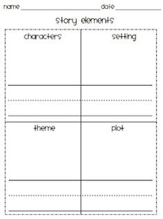 free story elements organizer - 3 formats to choose from!