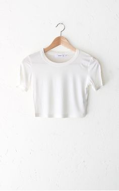 Ribbed Crop Top - White