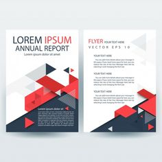 Red and Gray Creative Report Cover Template with Geometric Shapes Free Vector Report Card Template, Book Report Templates, Best Templates, Cover Template, Brochure Template, Card Templates, Annual Report Layout, Annual Report Covers, Free Infographic Templates