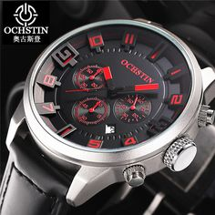 2016 OCHSTIN Sports Watches Men Quartz Clock Man 3D Face Military Army Hodinky Waterproof Wrist Watch Male Relogio Masculino
