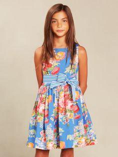 Floral Cotton Sateen Dress - Girls 7-16 Dresses & Rompers - RalphLauren.com