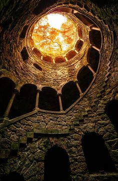 "Come to visit this palace and others, ""Quinta da Regaleira"" Sintra. Portugal Come to visit this palace and others, ""Quinta da Regaleira"" Sintra. Oh The Places You'll Go, Places To Travel, Spain And Portugal, Portugal Travel, Portugal Vacation, Stairway To Heaven, Amazing Architecture, Architecture Design, Abandoned Places"