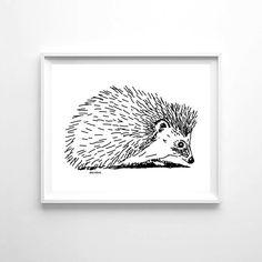 Woolf With Me® Woodland Hedgehog Printable Wall Art by woolfwithme