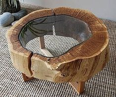 Одноклассники Tree Stump Table, Cheap Furniture, Homemade Furniture, Diy Furniture Easy, Home Furniture, Discount Furniture, Furniture Plans, Furniture Design, Wood Design