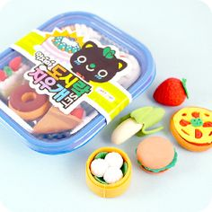 Buy Kawaii Bento Box Food Erasers at Tofu Cute