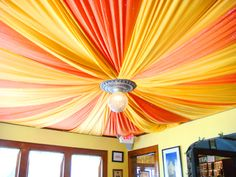 The fabric ceiling... I wonder if there is a way to DIY this with lacey pastels.... Without breaking dorm rules.