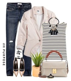 """""""Do It On Purpose"""" by lisa-holt ❤ liked on Polyvore featuring Abercrombie & Fitch, Yves Saint Laurent, Chloé and Ettika"""