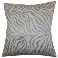 Helaine Zebra Print Throw Pillow