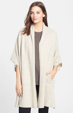 Free shipping and returns on Eileen Fisher Yak & Merino Kimono Cape at Nordstrom.com. A chic cape cast in a cozy blend of soft yak and merino wools features a cleanly styled open front. Kimono sleeves and deep side slits enhance the modern silhouette.