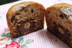 Banana Muffins with Ferrero rochers - french recipe
